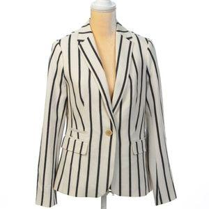 Talbots summer white black blazer jacket New Sz. 6